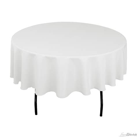 round white table cloth 90 in round polyester tablecloth white