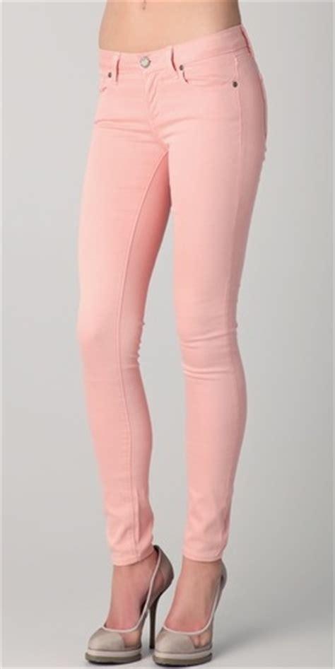 light pink skinny jeans paige light pink skinny denim jeans fashionista pinterest