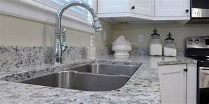 Kitchen Remodel Ashen White Granite Countertop With Undermount Stainless Steel Sink Accent