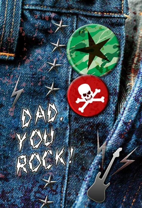 dad  rock fathers day card   island