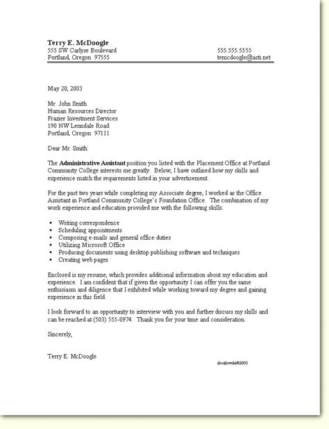 Bullet Points In Cover Letter by Cover Letter Template With Bullet Points Career Cover