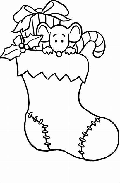 Coloring Stocking Christmas Pages Printable Stockings Colorear