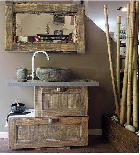 arredo bagno stile etnico consolle bagno etnico in legno vintage grey doppia ribalta