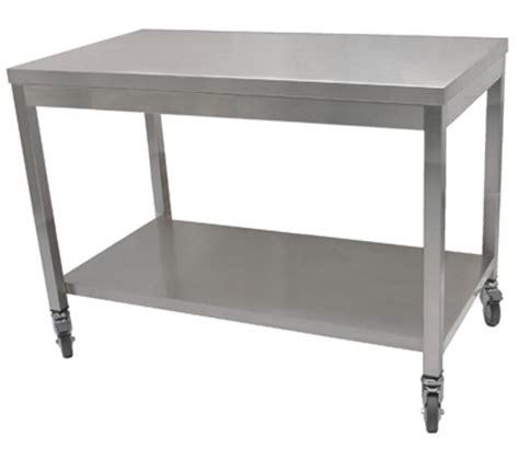 etagere inox cuisine table inox centrale ou adossée et plan de travail inox
