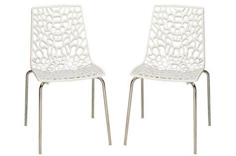 chaise blanche pas cher lot de 2 chaises blanches traviata chaises design pas cher