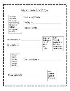 daily schedule calendar routine autism adventures