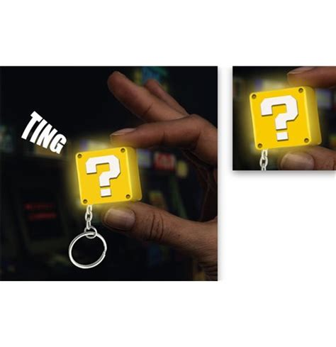 question block l mario keyring with light question block for only c
