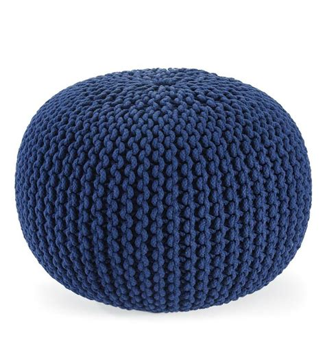Knitted Ottoman by Knitted Pouf Ottoman Dos Agujas