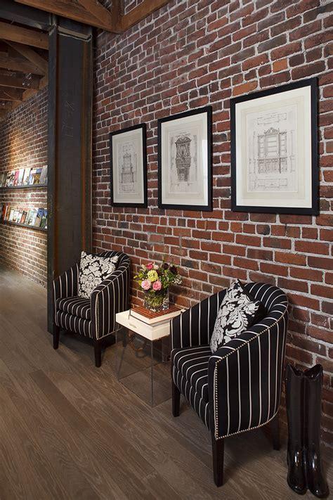 Elegant Fake Brick Wall vogue San Francisco Eclectic Hall