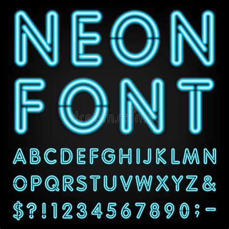 number of letters in alphabet neon light alphabet vector font stock vector image 53211729 50175