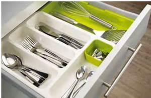Couvert De Cuisine : range couverts adaptable la taille du tiroir cuisine ~ Teatrodelosmanantiales.com Idées de Décoration