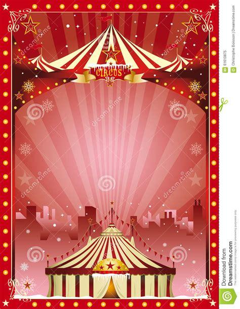 poster christmas circus city show stock photo image
