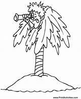 Coloring Ilha Coqueiro Island Escondido Homem Colorir Desenho Adults Tudodesenhos Imprimir sketch template