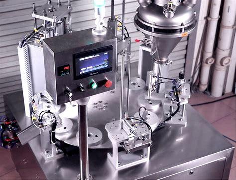 sr  fully automatic rotary coffee capsule filling sealing machine saneu