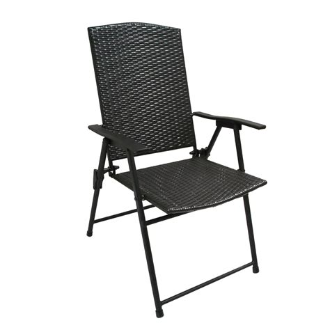 folding patio chairs shop garden treasures brown steel folding patio