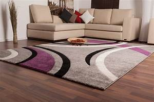 Tapis Deco Salon : tapis salon mauve id es de d coration int rieure french decor ~ Teatrodelosmanantiales.com Idées de Décoration