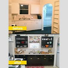 Kitchen Before & After A Rental Kitchen Gets A Glam