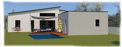 plan maison plain pied 4 chambres avec suite parentale maison contemporaine avec toit plat et toit monopente à