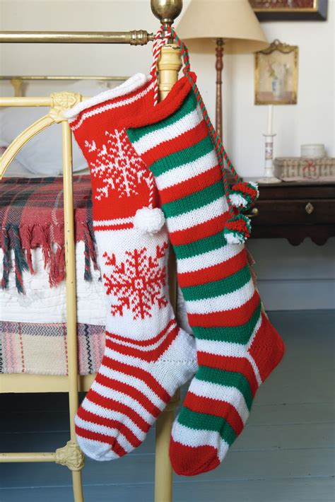 knit  christmas stocking hobbycraft blog