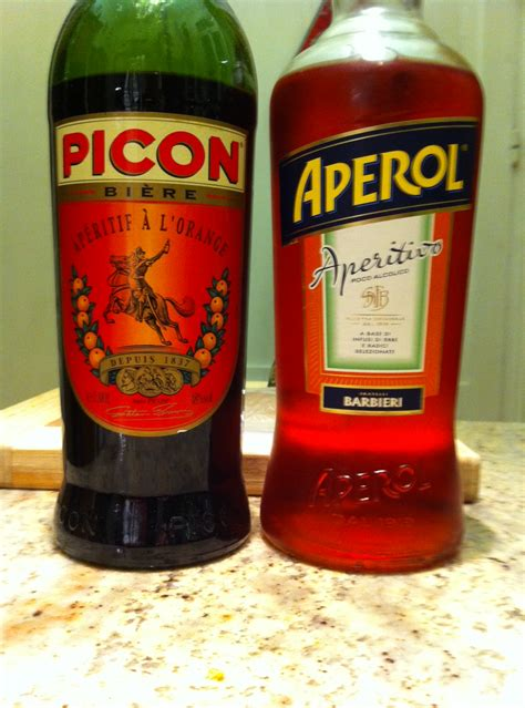 amer picon orange and bitter picon and aperol what richard is drinking