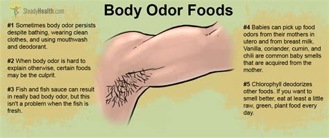 body odor causes diet