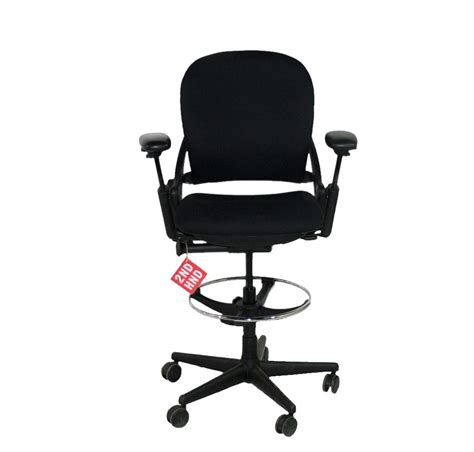 black steelcase leap v1 draughtsman chair 2ndhnd