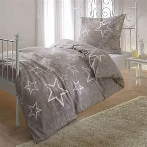 Biber Bettwäsche Sterne : bettwarenshop biber bettw sche sterne taupe g nstig online kaufen bei bettwaren shop ~ Watch28wear.com Haus und Dekorationen