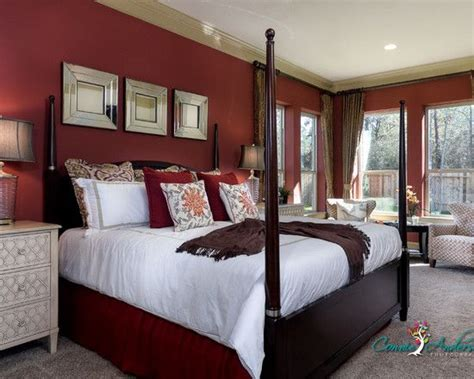 Bedroom Red Walls Design, Pictures, Remodel, Decor And