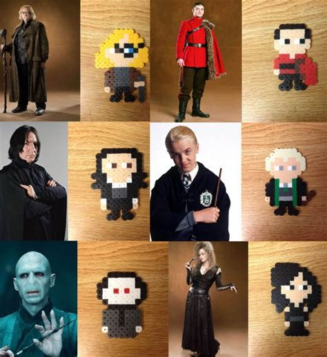 Harry Potter Characters Perler Bead Pin/Magnet/Keychain Hand-crafted