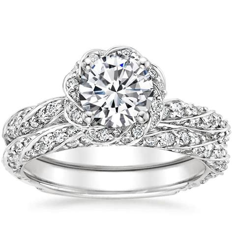 sparkling pav 233 engagement rings brilliant earth