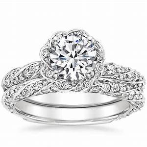 Sparkling pave engagement rings brilliant earth for Pave wedding rings