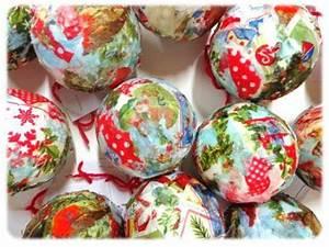 Boule De Noel A Fabriquer : r aliser une boule de no l avec des serviettes en papier ~ Nature-et-papiers.com Idées de Décoration