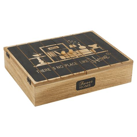 wooden kitchen storage boxes wooden 12 compartment tea bag box with doors kitchen 1644