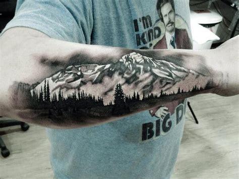 25 mountain tattoos on forearm