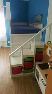 Ikea Kura Rutsche : kura bett aufstieg trofast m belbau bett bett ideen und hochbetten kinderzimmer ~ Eleganceandgraceweddings.com Haus und Dekorationen