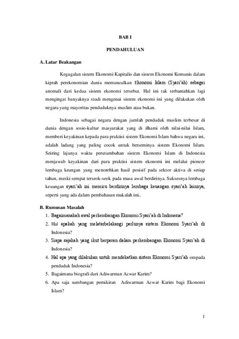 (DOC) Perkembangan Ekonomi Islam di Indonesia | Kengkeng