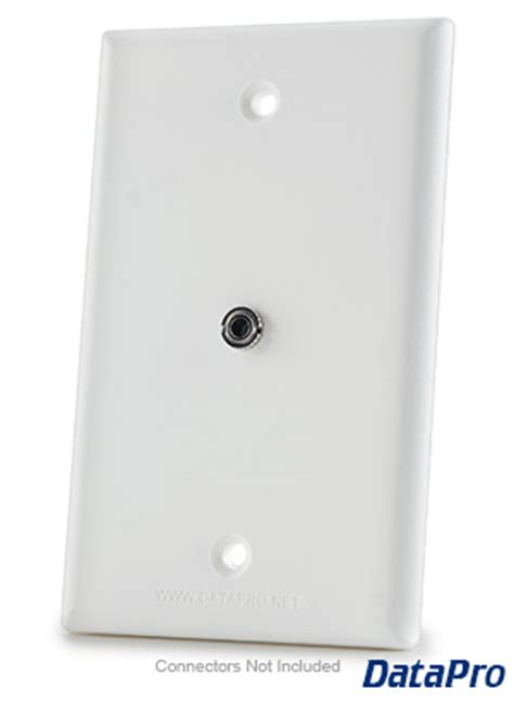 mm stereo audio wall plate datapro