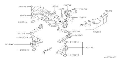 Subaru Intake Manifold Diagram by 14111aa040 Genuine Subaru Manifold Assy Intake