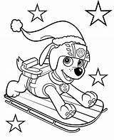 Zuma Paw Patrol Coloring Sledges Printable Colouring sketch template