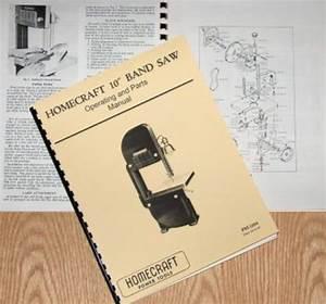Homecraft  Delta 10 Inch Older Band Saw Operator U0026 39 S Manual