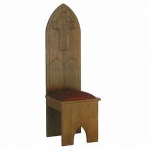 Chaise En Bois Massif : chaise bois massif style gotique 150x47x47 cm vente en ligne sur holyart ~ Teatrodelosmanantiales.com Idées de Décoration