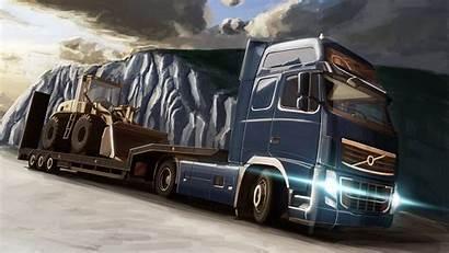Trailer Tractor Van Wallpapers Bulldozer Road Wallpapersafari