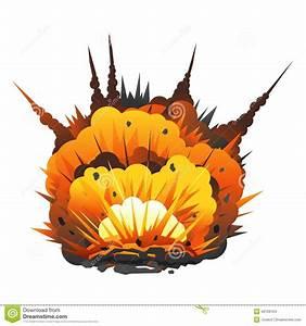 Big Cartoon Bomb Explosion stock vector. Illustration of ...