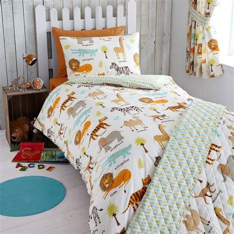 safari animals junior toddler bed duvet cover set
