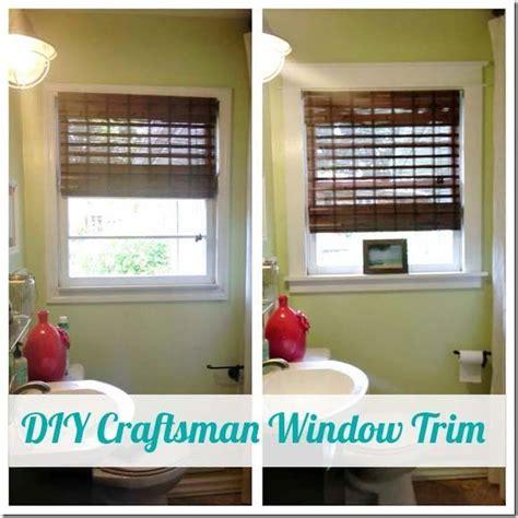 diy craftsman window trim    craftsman