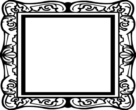 Picture Frame Clipart Picture Frame Border Free Stock Photo Illustration Of