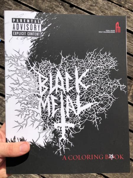 black metal coloring book feral house coloring books microcosm publishing