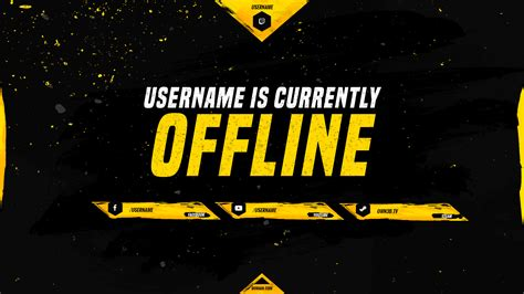 Twitch Offline Banner Template Size by Typhon Yellow Cs Go Own3d Tv