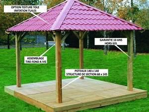 Pergola Bois En Kit Pas Cher : tonnelle bois en kit pas cher ~ Edinachiropracticcenter.com Idées de Décoration