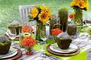 Tischdeko Mit Sonnenblumen : tischdeko f r sommerparty 48 neue ideen ~ Lizthompson.info Haus und Dekorationen